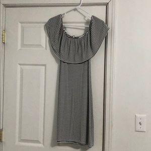 Off the shoulder striped sun dress